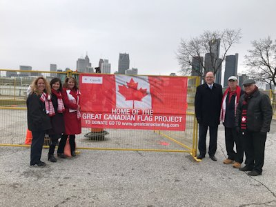 Great Canadian Flag Project - Ground Breaking